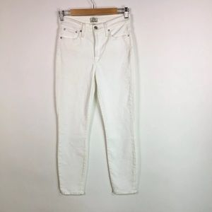 J Crew Lookout High Rise Skinny Jeans White